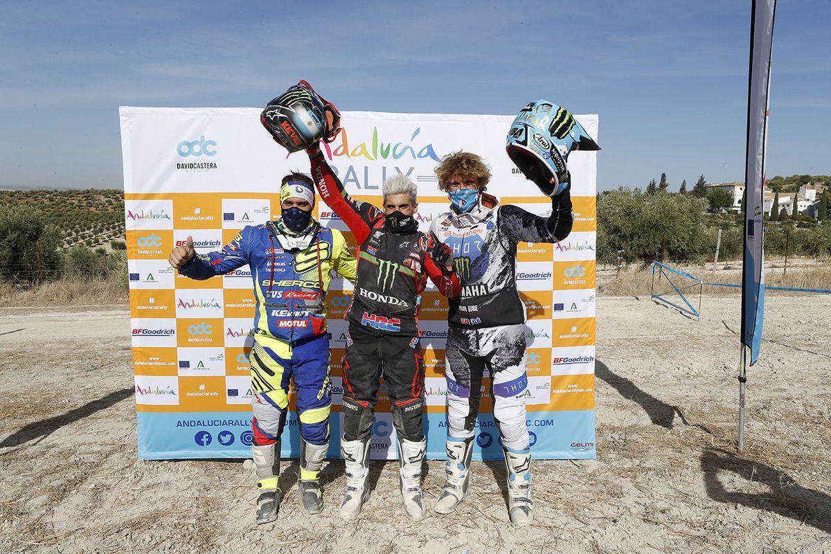 Podio final Andalucía Rally 2020