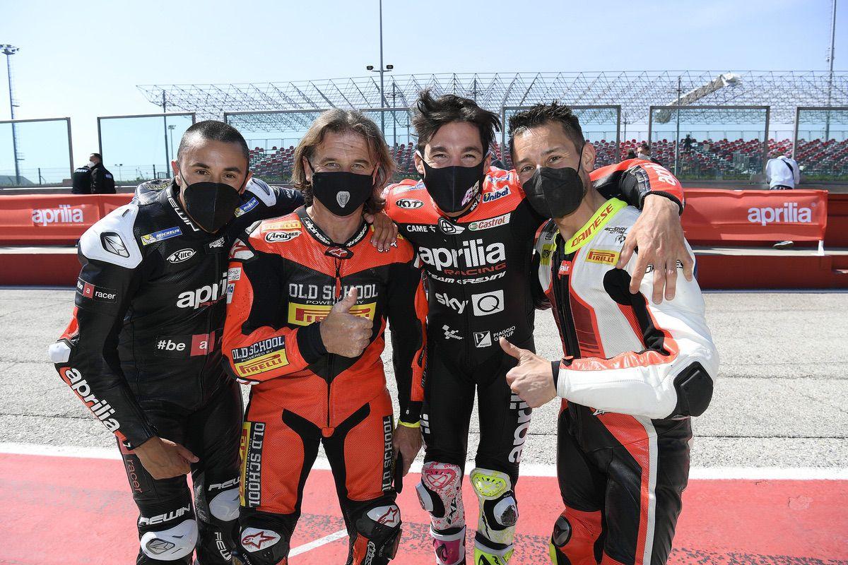 El circuito de Misano reúne a los grandes campeones de Aprilia