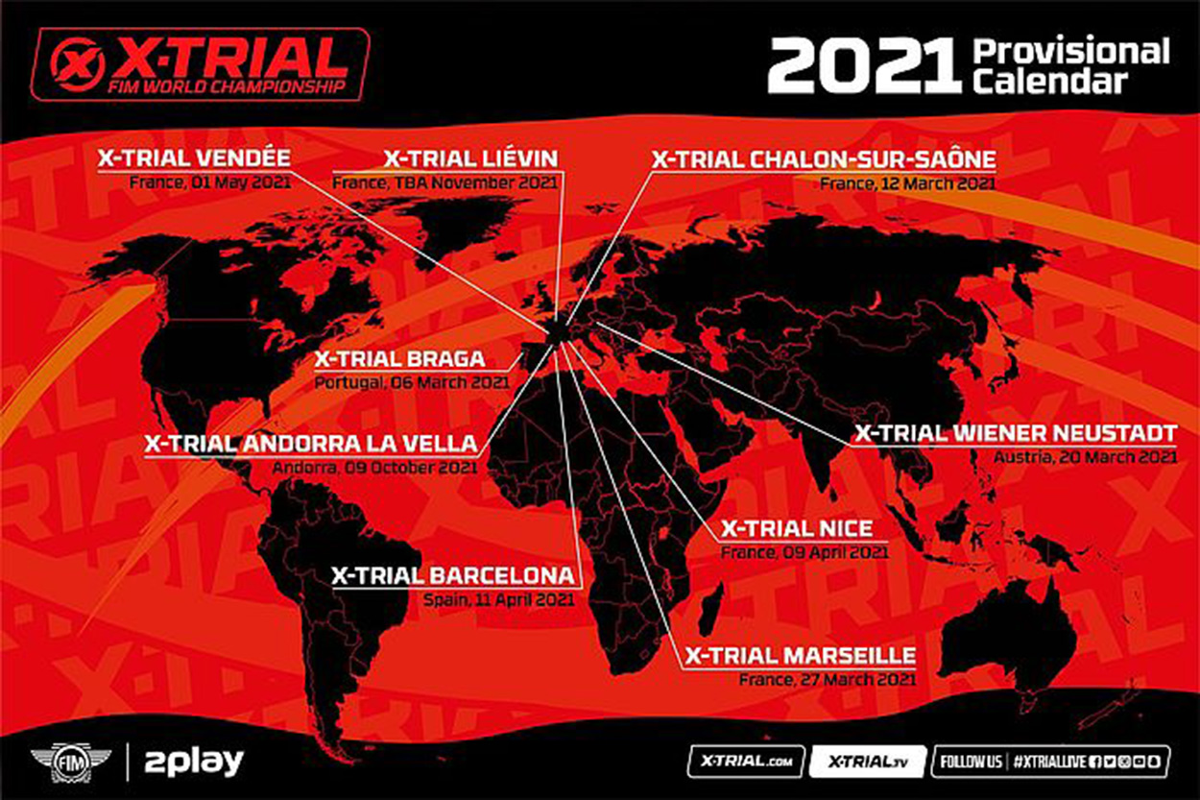 Calendario provisional X-Trial 2021