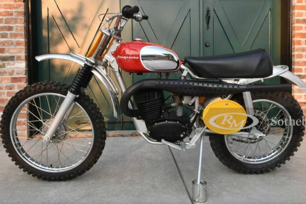 Motos de ensueño: Husqvarna ex-Steve McQueen por 200.000 dólares