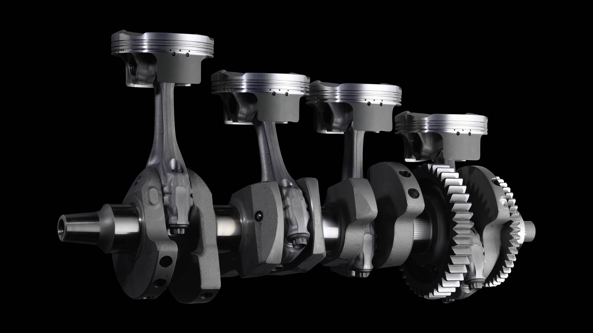 Motor cuatro cilindros Yamaha R1 2015