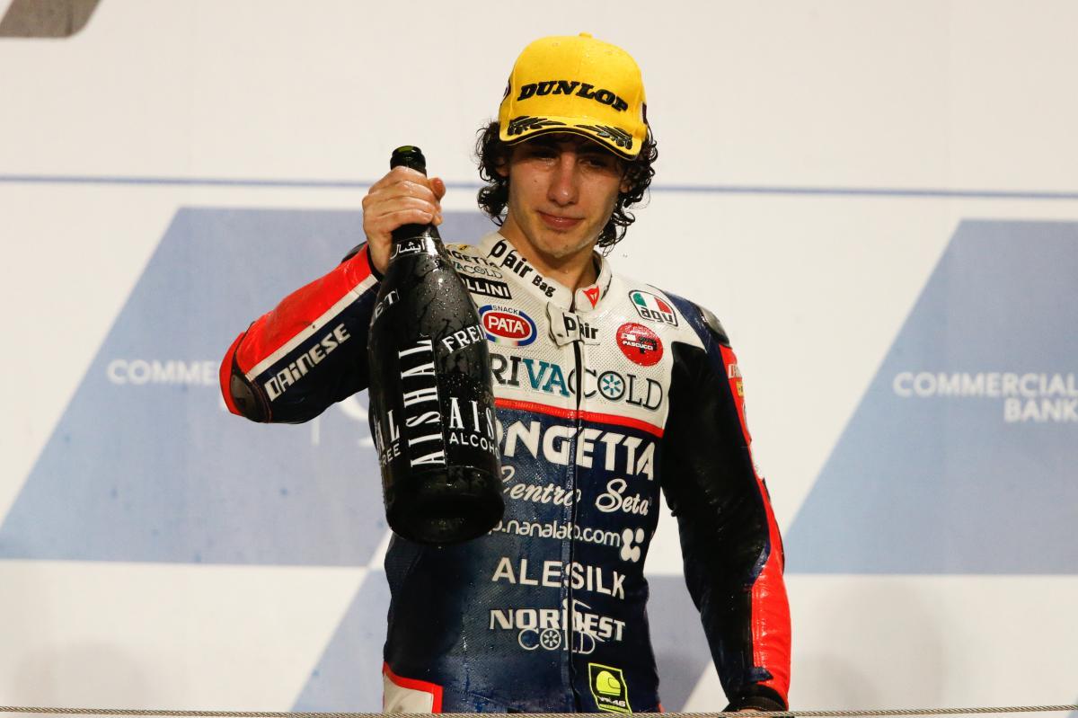 Niccolo Antonelli, victoria en Qatar en Moto3