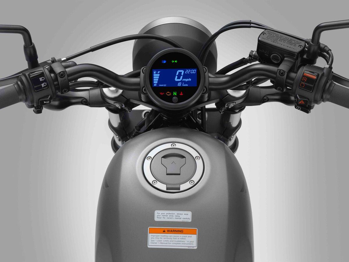 Instrumentación de la Honda Rebel 500