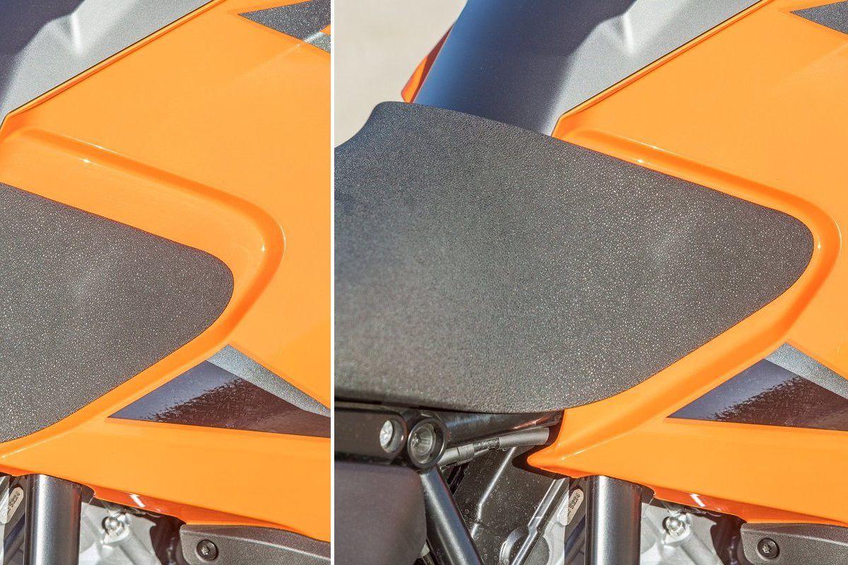 KTM 1290 S asiento piloto, arriba y abajo
