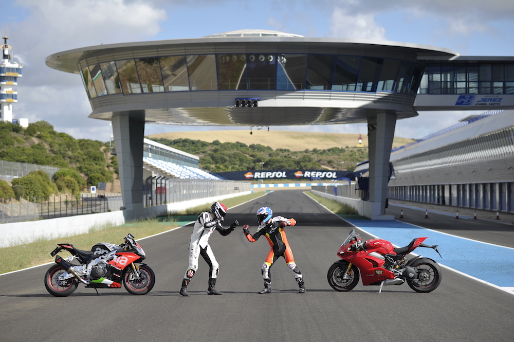 Ducati Panigale V4S Aprilia rsv4