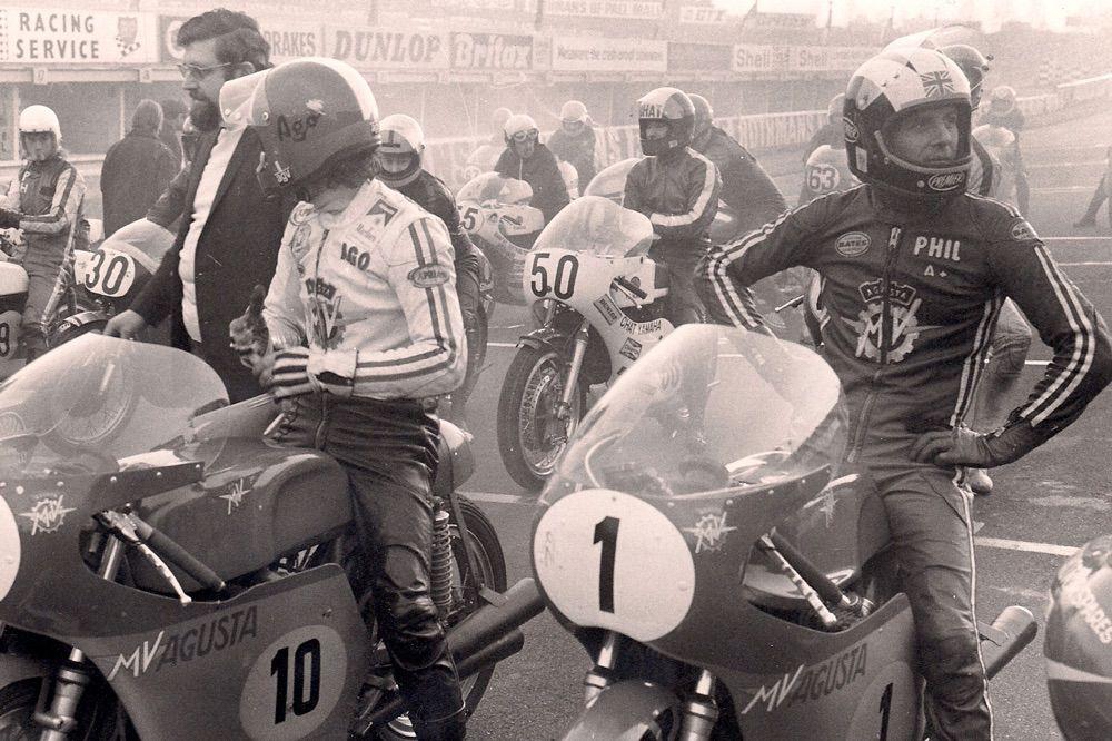 Giacomo Agostini y Phil Read