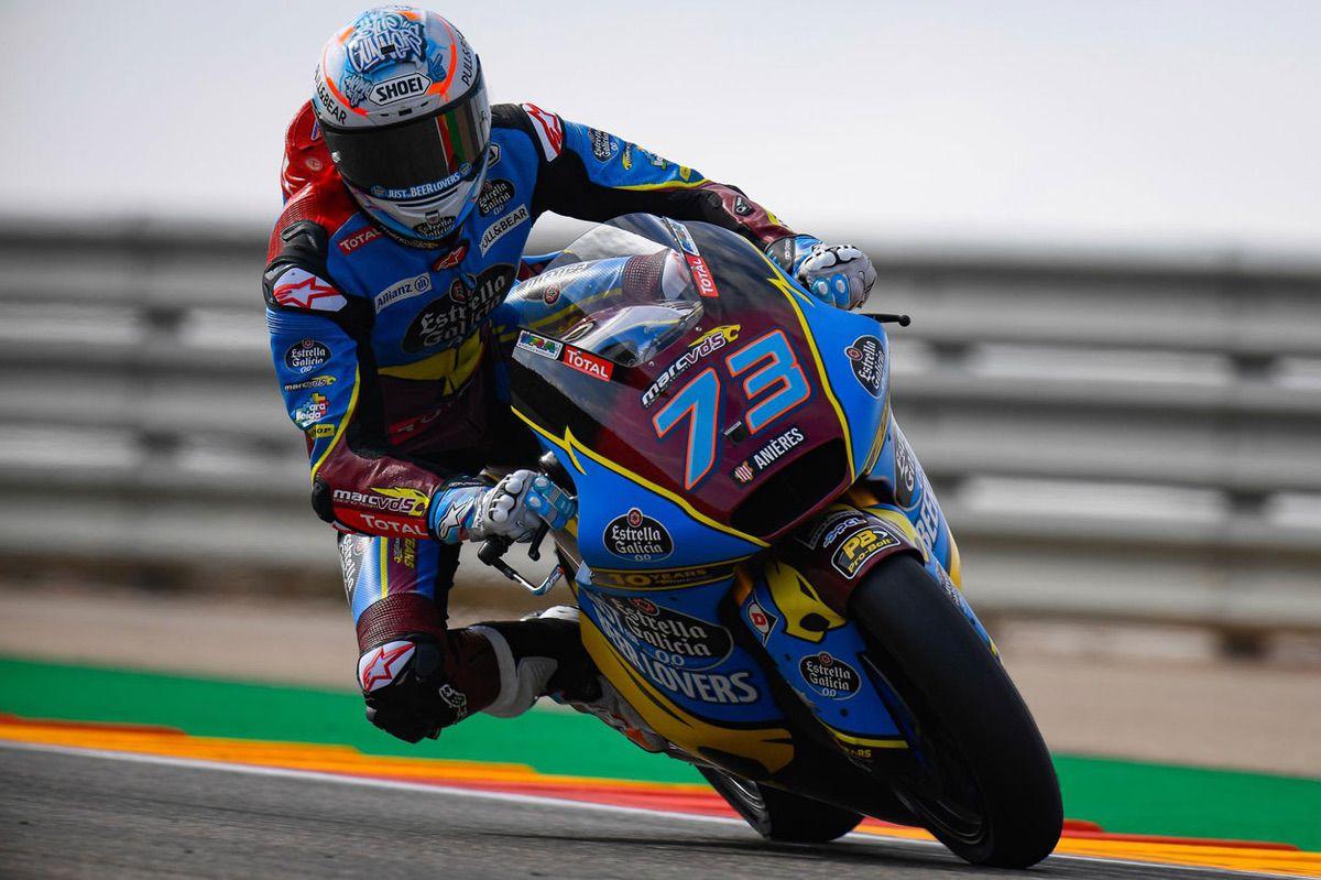 Alex Márquez logró la pole del Gran Premio de Aragón en Moto2 por una décima