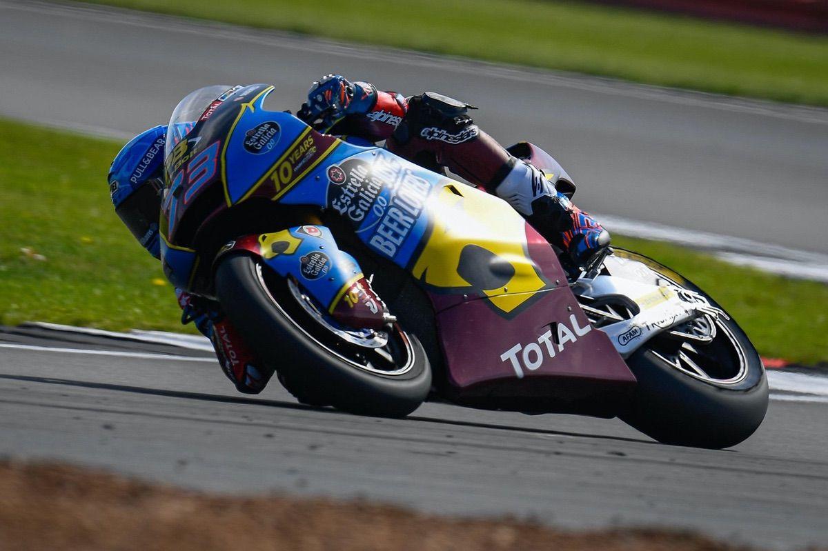 Alex Márquez durante los entrenamientos del GP de Gran Bretaña