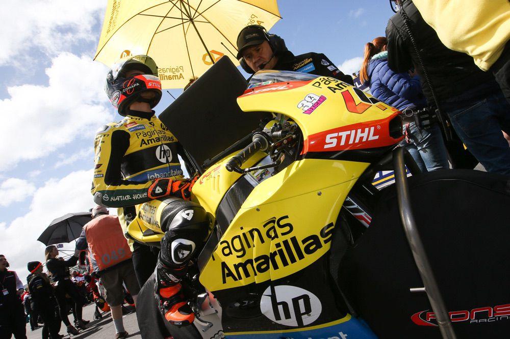 Caida de Alex Rins en el GP de Australia