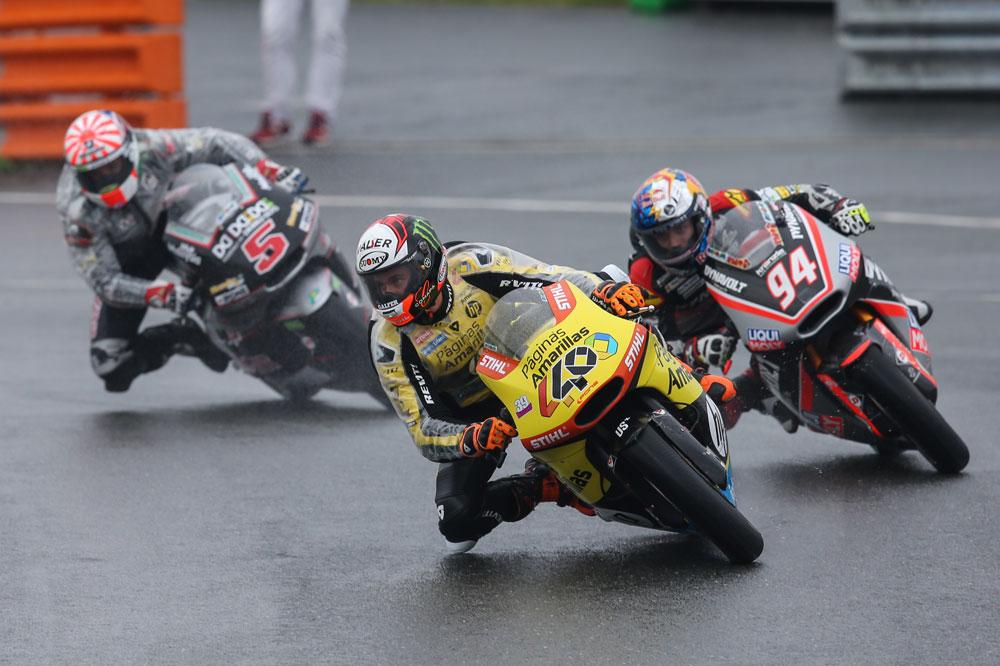 Alex Rins durante el GP de Alemania de Moto2