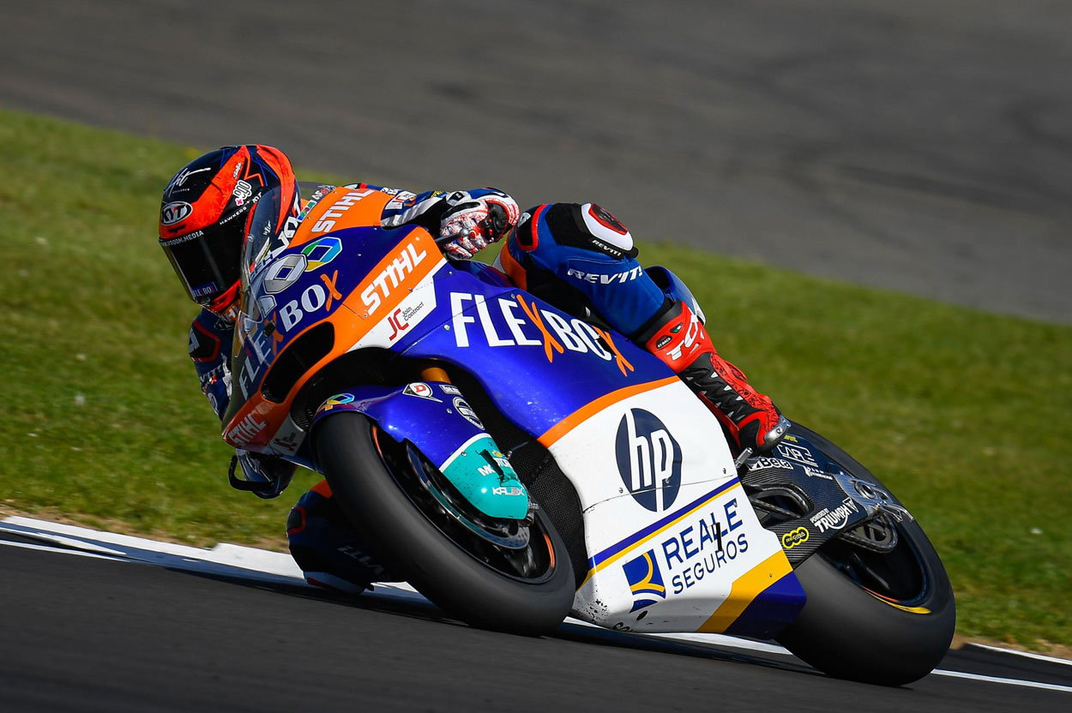 Augusto Fernández logró el mejor tiempo de los entrenamientos del viernes del GP de San Marino