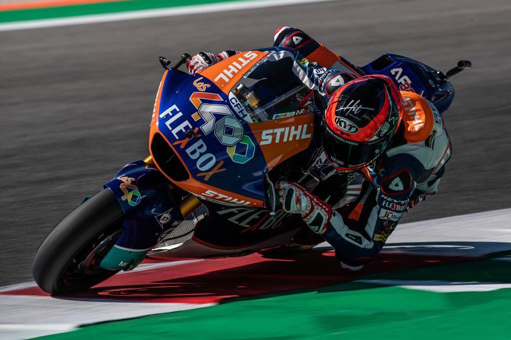 Augusto Fernandez logró el mejor registro en Moto2 en las sesiones del viernes del GP de Aragón