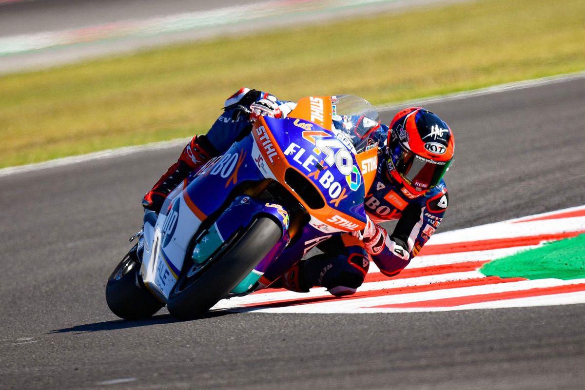 Augusto Fernández logró la victoria del Gran Premio de San Marino en la categoría Moto2