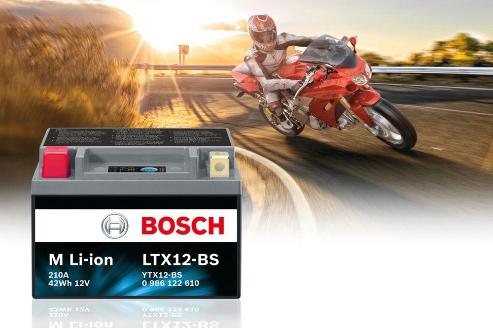 Bateria de litio Bosch para moto