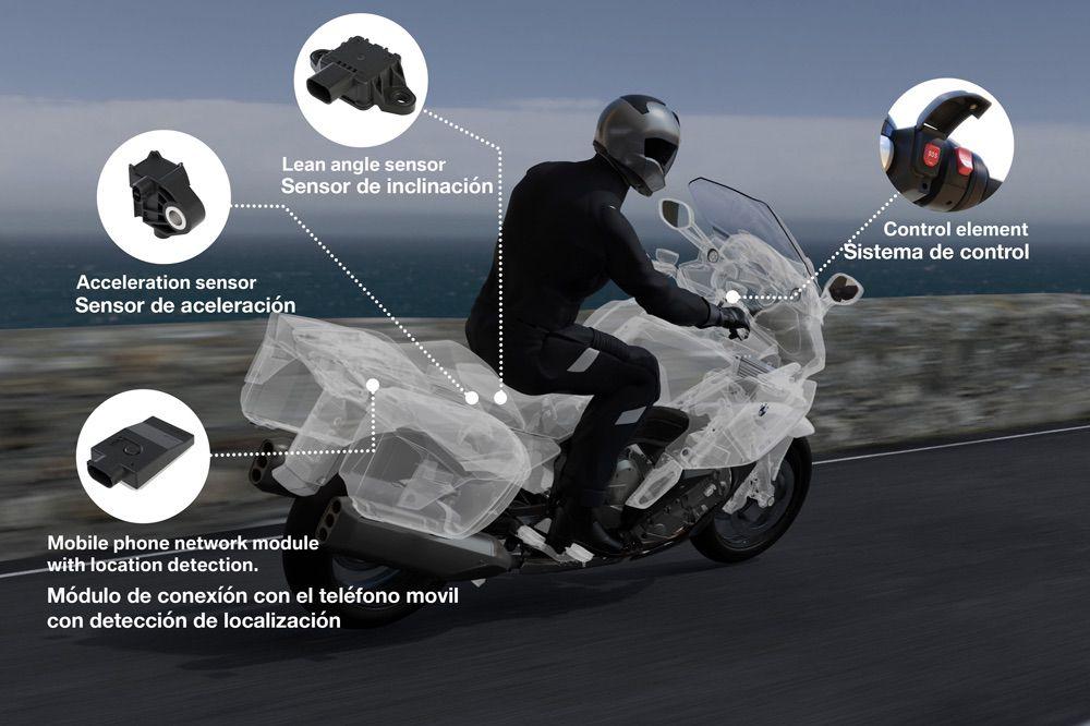 Como funciona BMW ECall, llamada de emergencia para motos