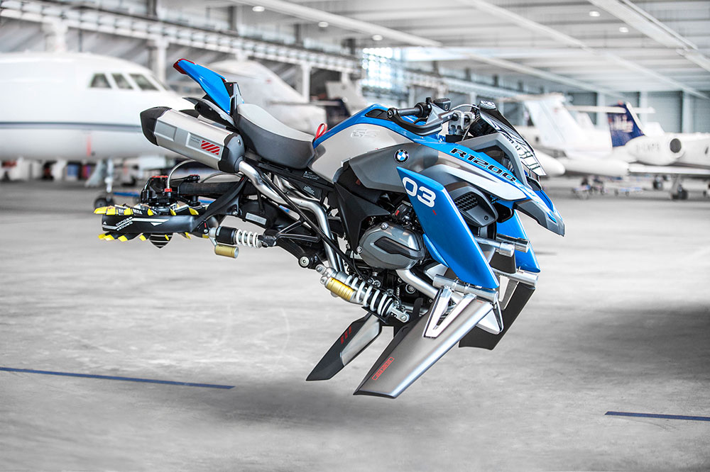 La moto voladora de BMW y LEGO