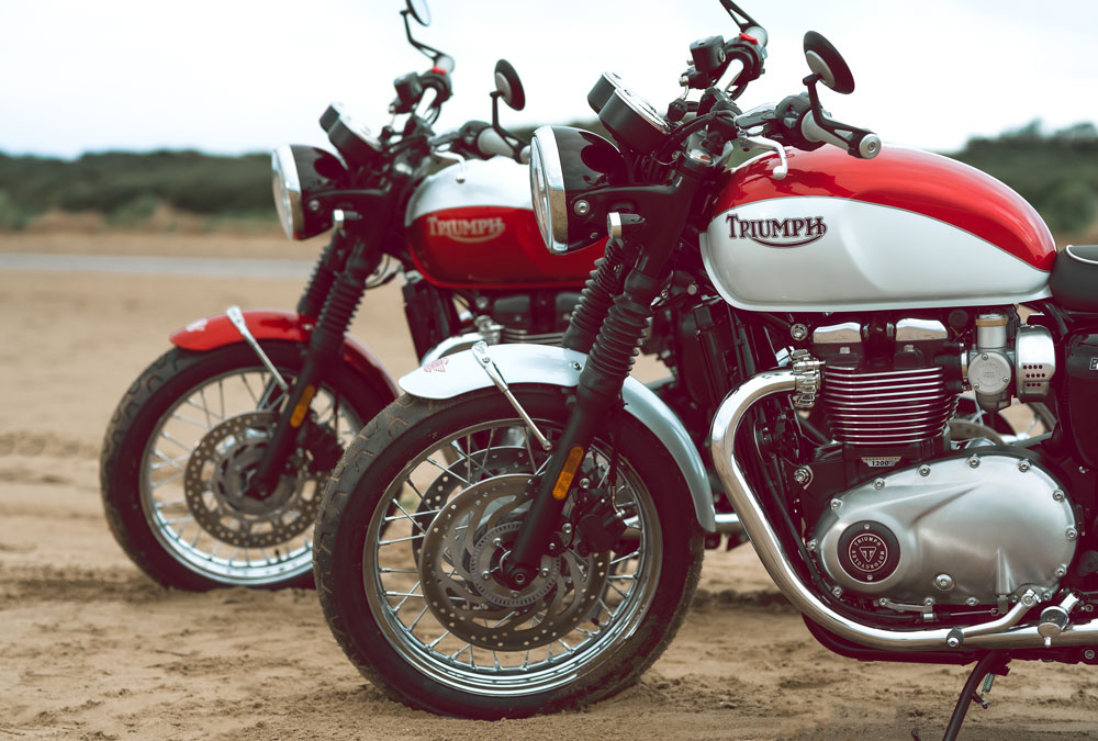 Triumph Bonneville T120 y T100 Edición Especial Bud Ekins