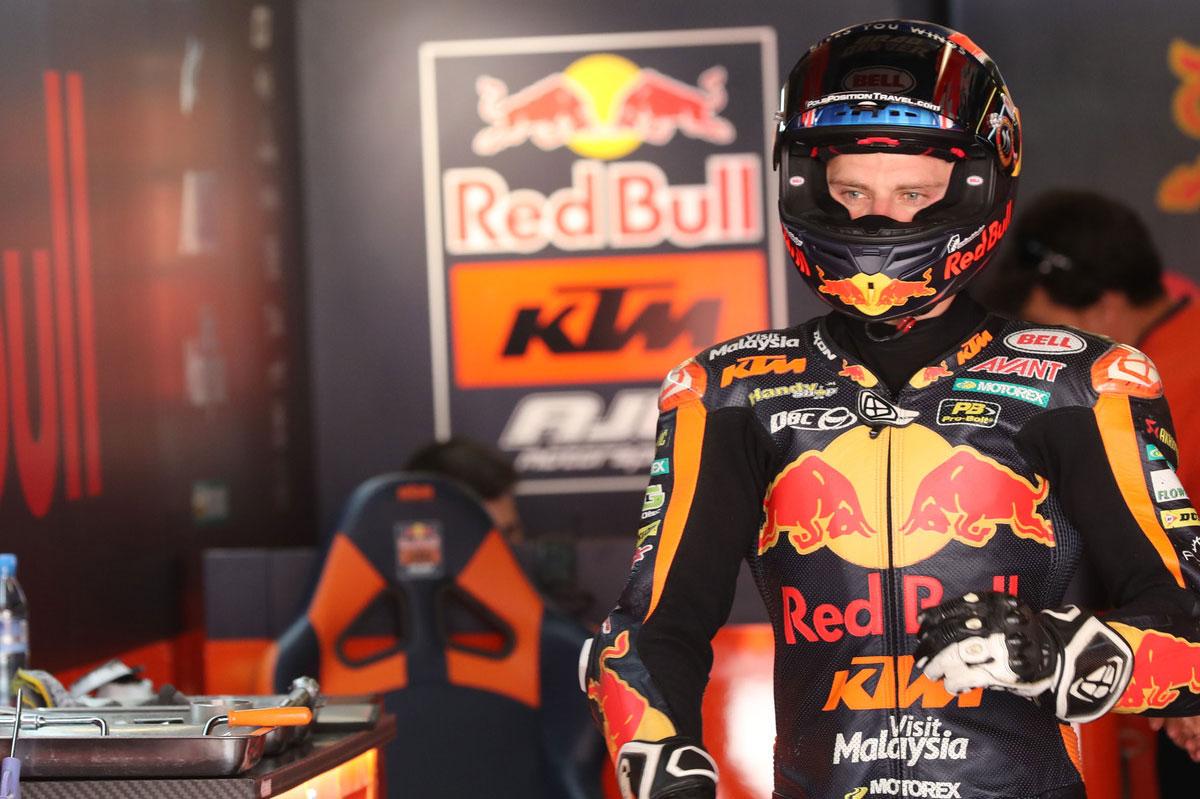 Brad Binder se llevó el mejor tiempo de los entrenamientos del viernes del GP de Holanda