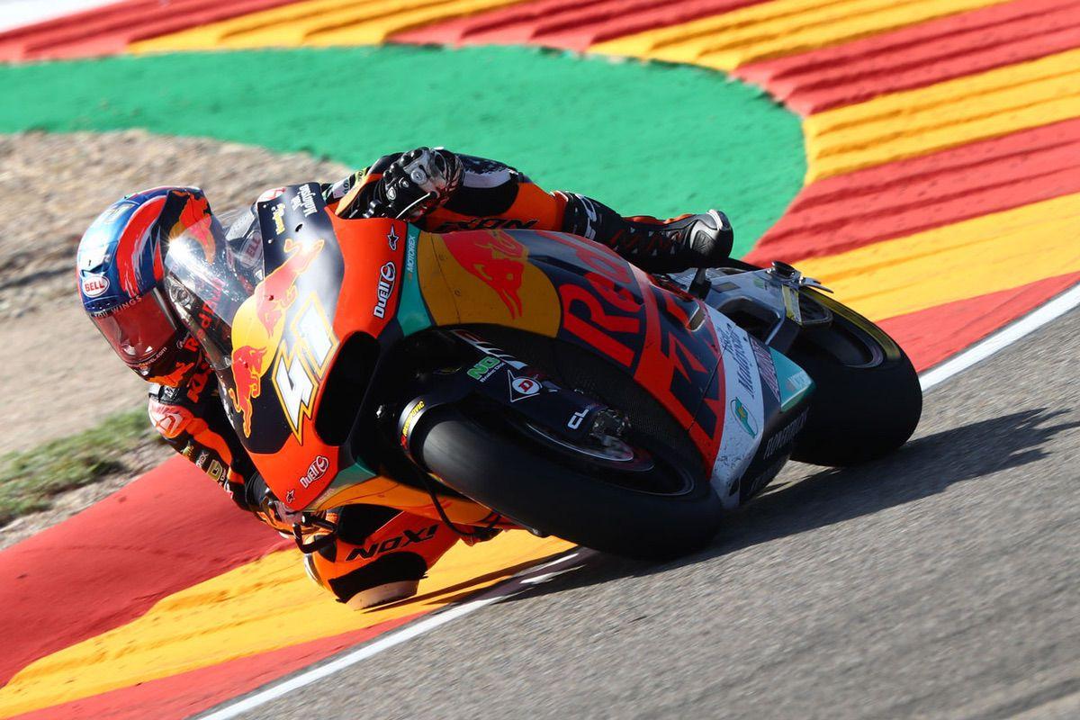 Brad Binder logró la victoria en la categoría Moto2 del Gran Premio de Aragón 2019