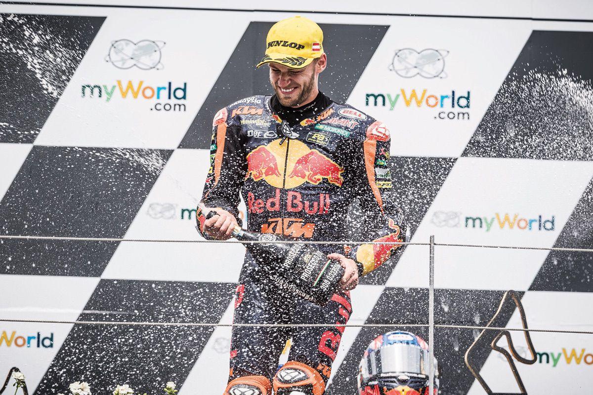 Victoria de Brad Binder en Moto2 en el Gran Premio de Austria