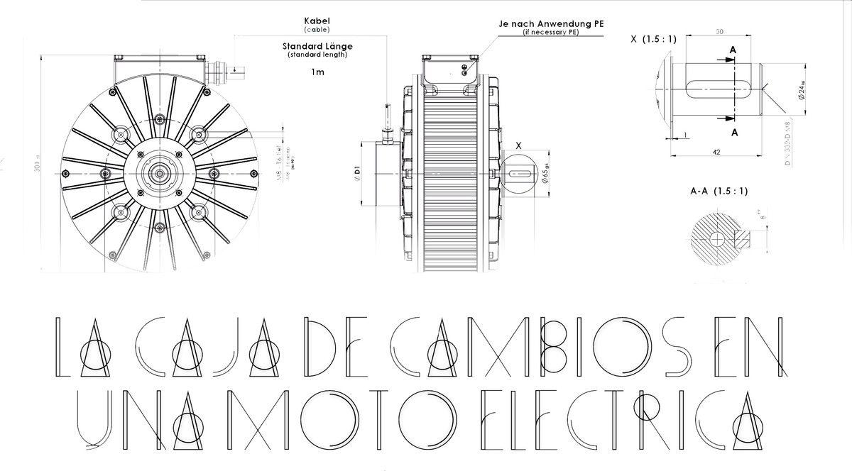 La caja de cambios en una moto eléctrica