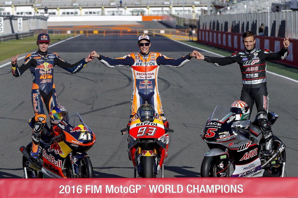 Campeones del mundo de motociclismo 2016