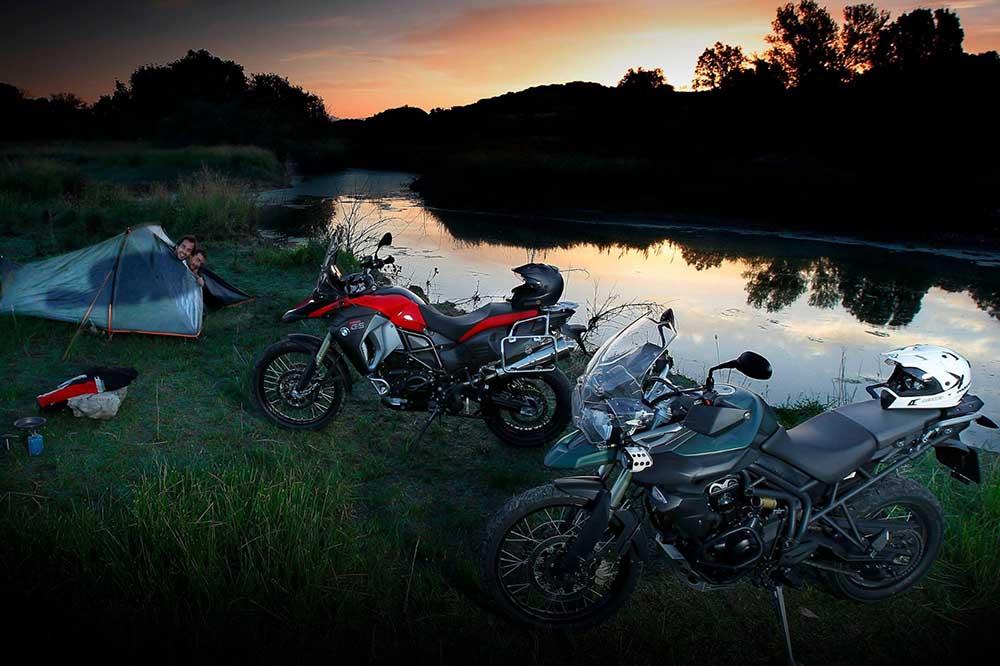 Camping en moto