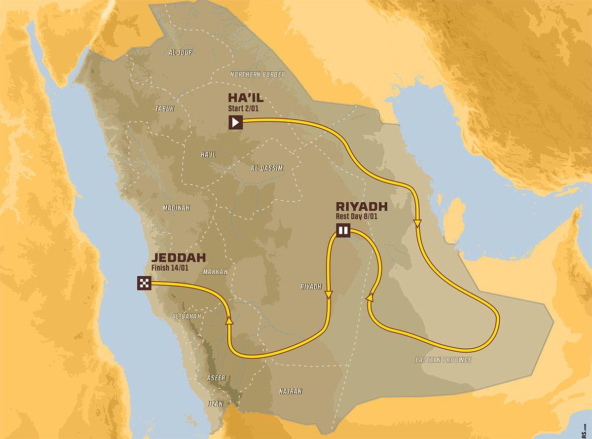 Rally Dakar 2022 - Recorrido