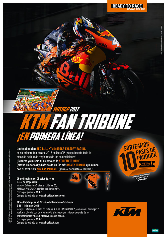 KTM MotoGP FAN Tribune 2017