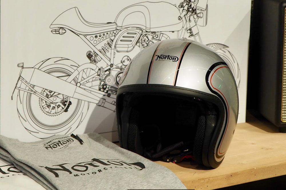 Casco de moto NZI para Norton