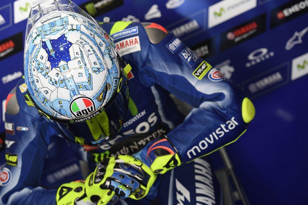 Nuevo Casco de Valentino Rossi para los entrenamientos pretemporada