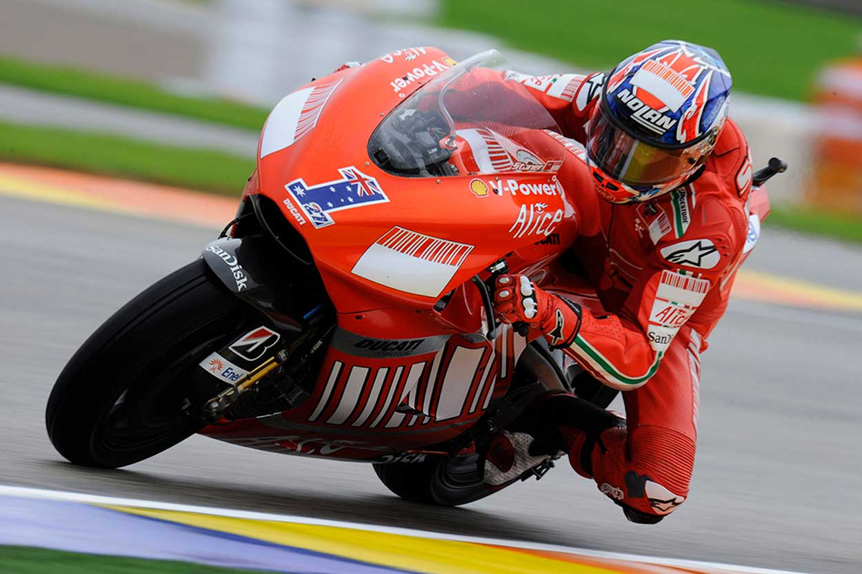 Casey Stoner logró el título de MotoGP para Ducati