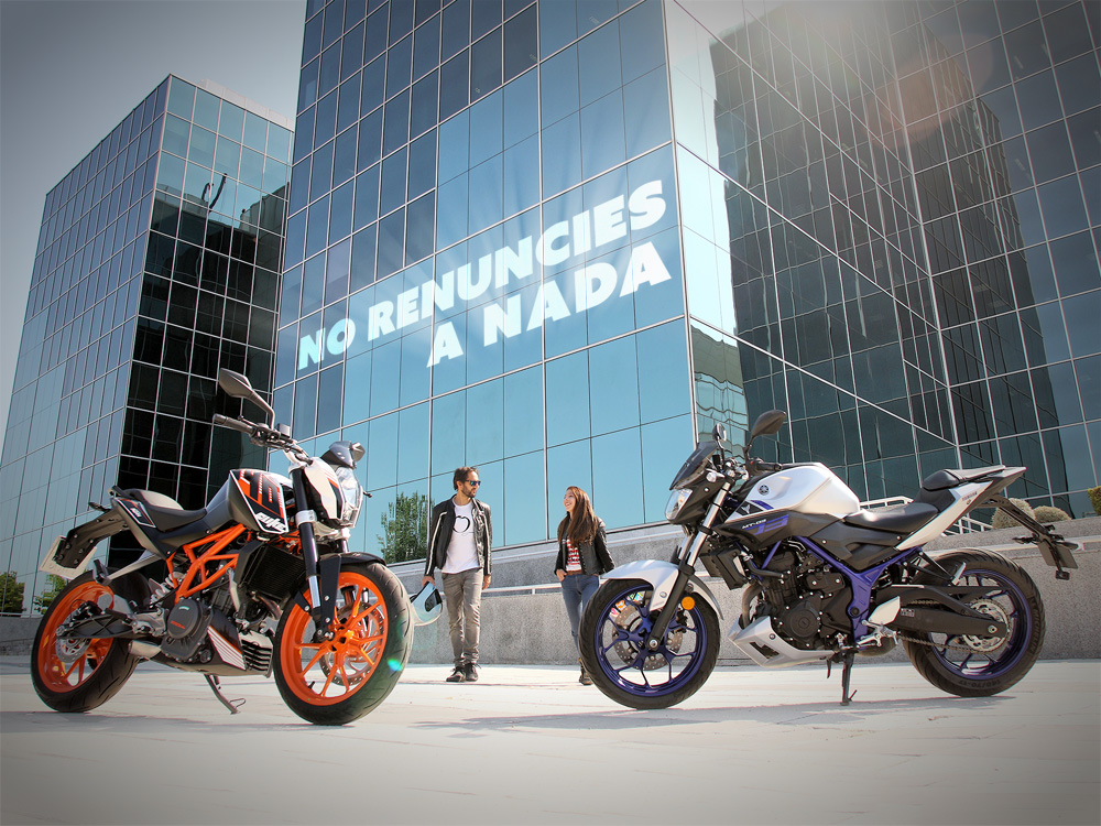 Comparativa KTM 390 Duke vs Yamaha MT-03