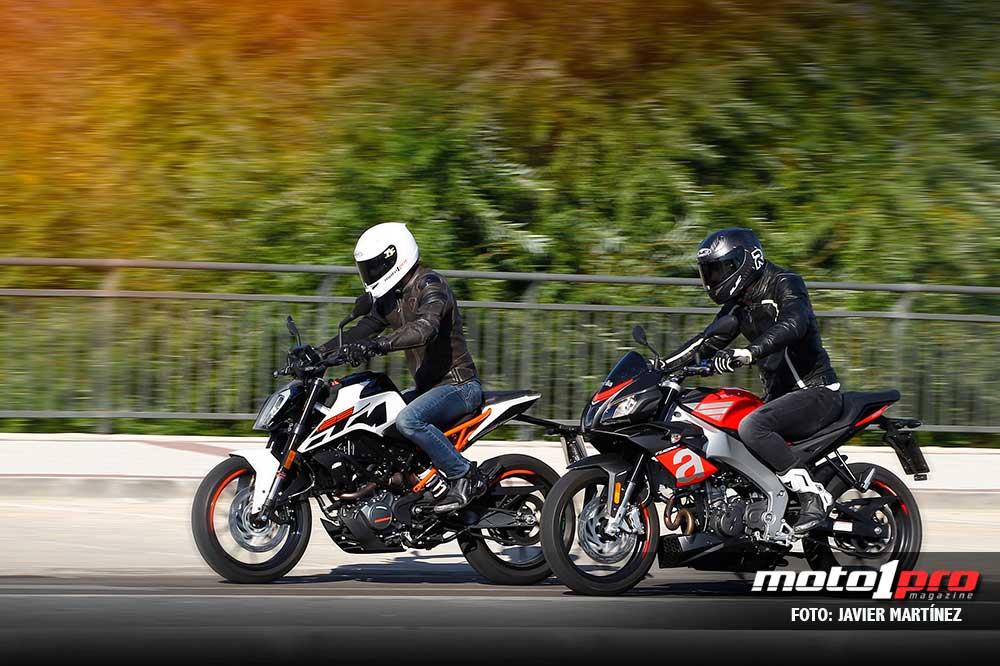 Comparativa Apilia Tuono 125 y KTM 125 Duke