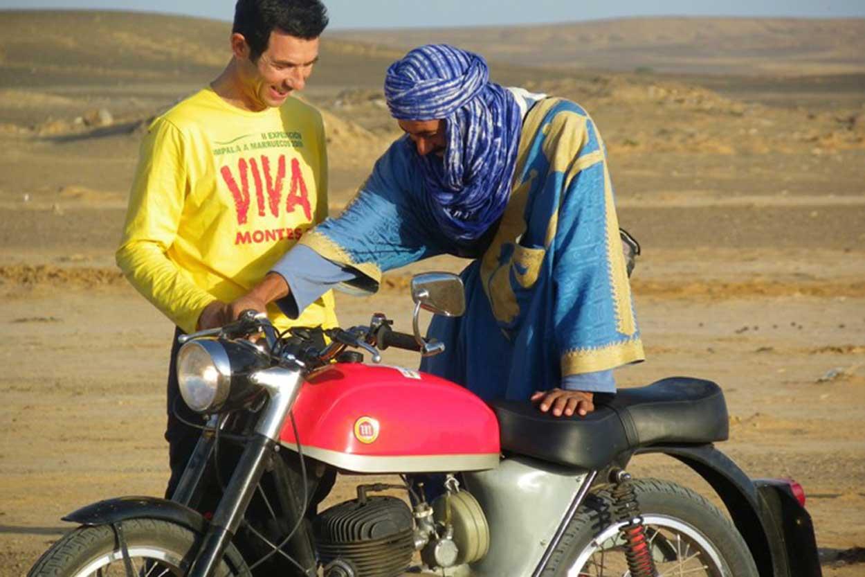 Una Montesa Impala en Marruecos, el principio del viaje de Con Impala Llegará