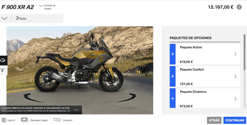 Configurador moto