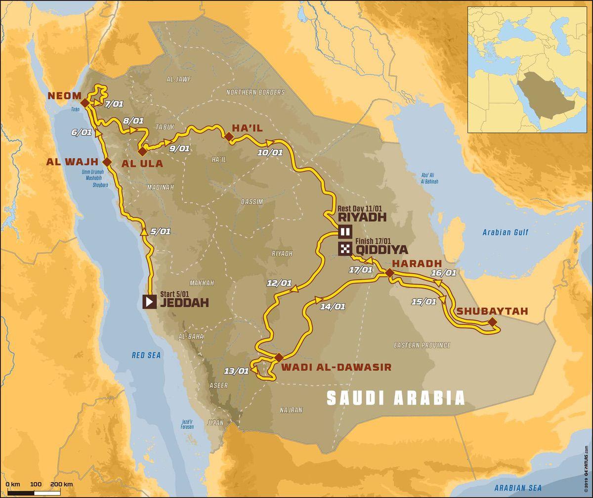 Mapa Rally Dakar 2020