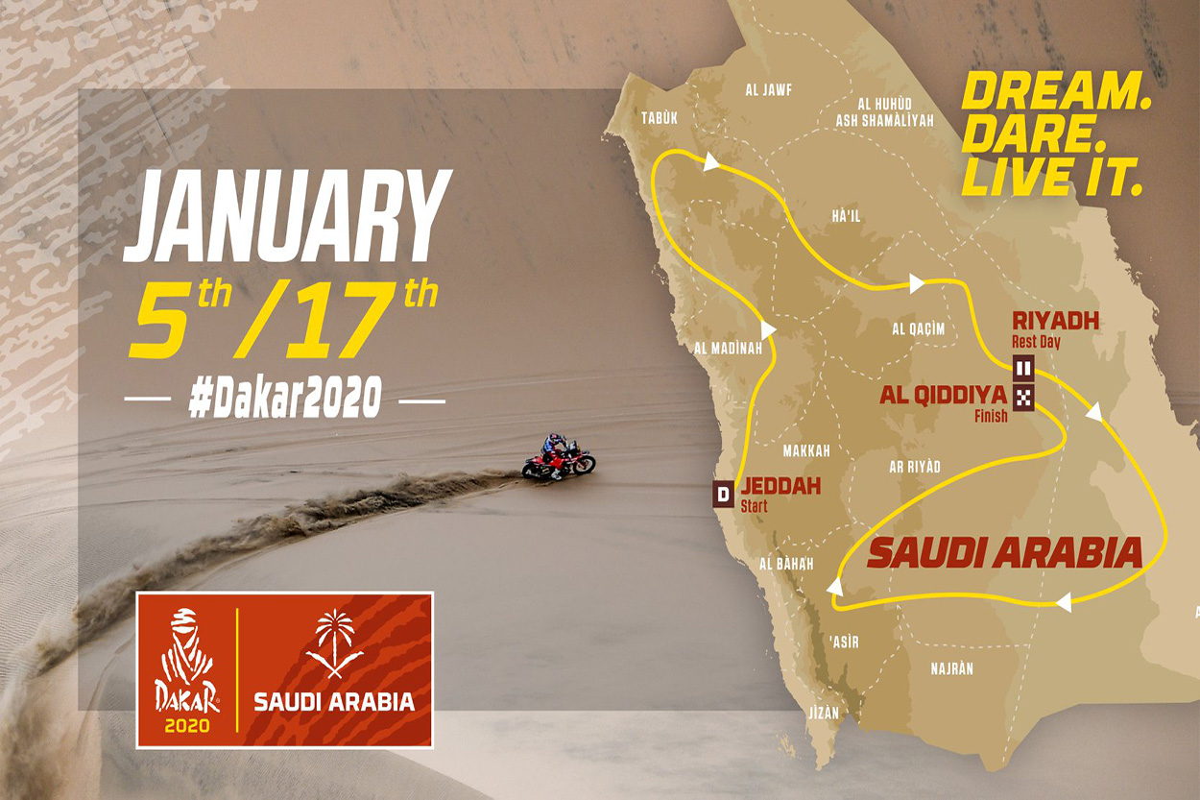 Mapa recorrido Dakar 2020