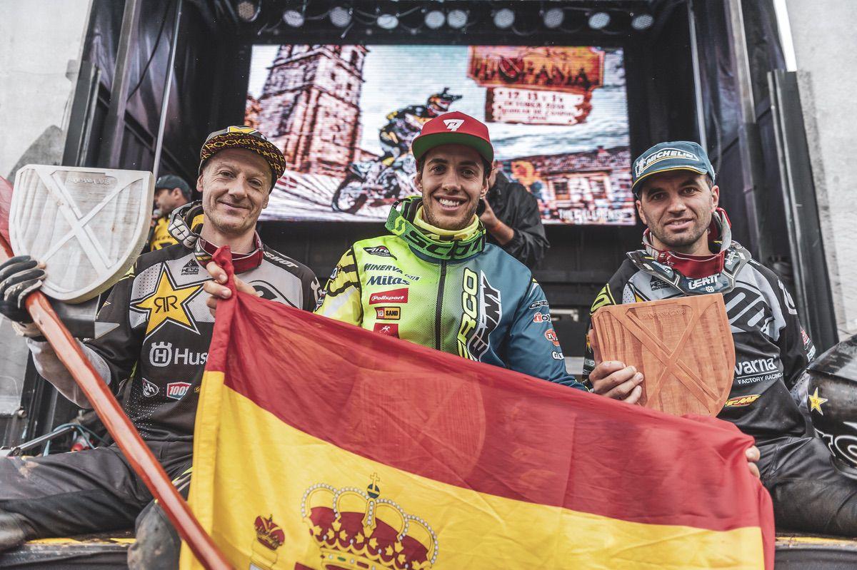 Mario Román, Alfredo Gómez y Graham Jarvis