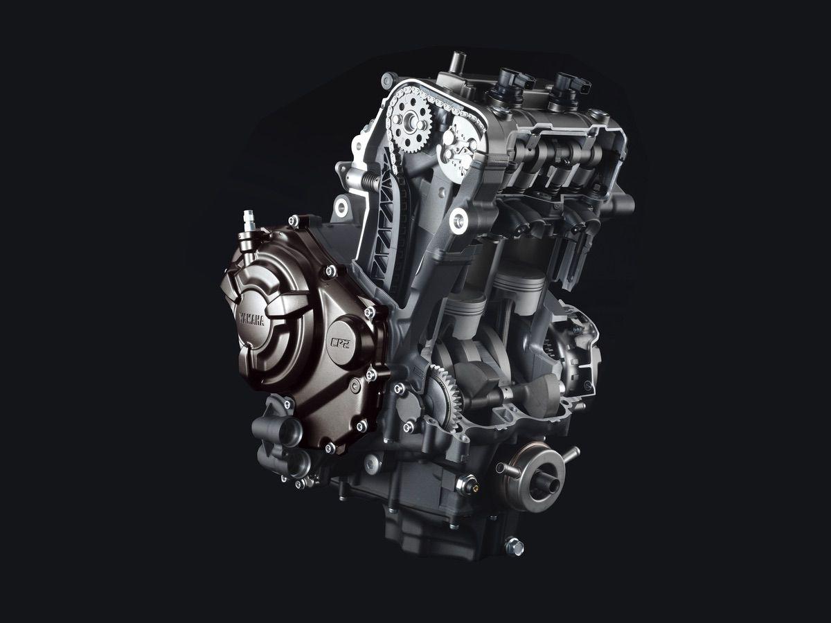 Detalle motor mt-07