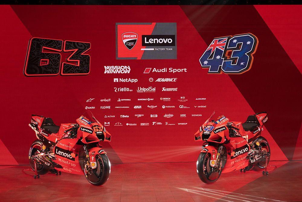 Presentación oficial del Ducati Lenovo Team 2021