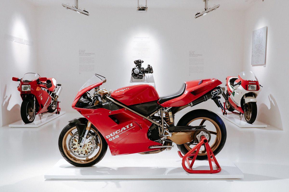 La Ducati 916 de Massimo Tamburini, en el Museo Ducati de Borgo Panigale