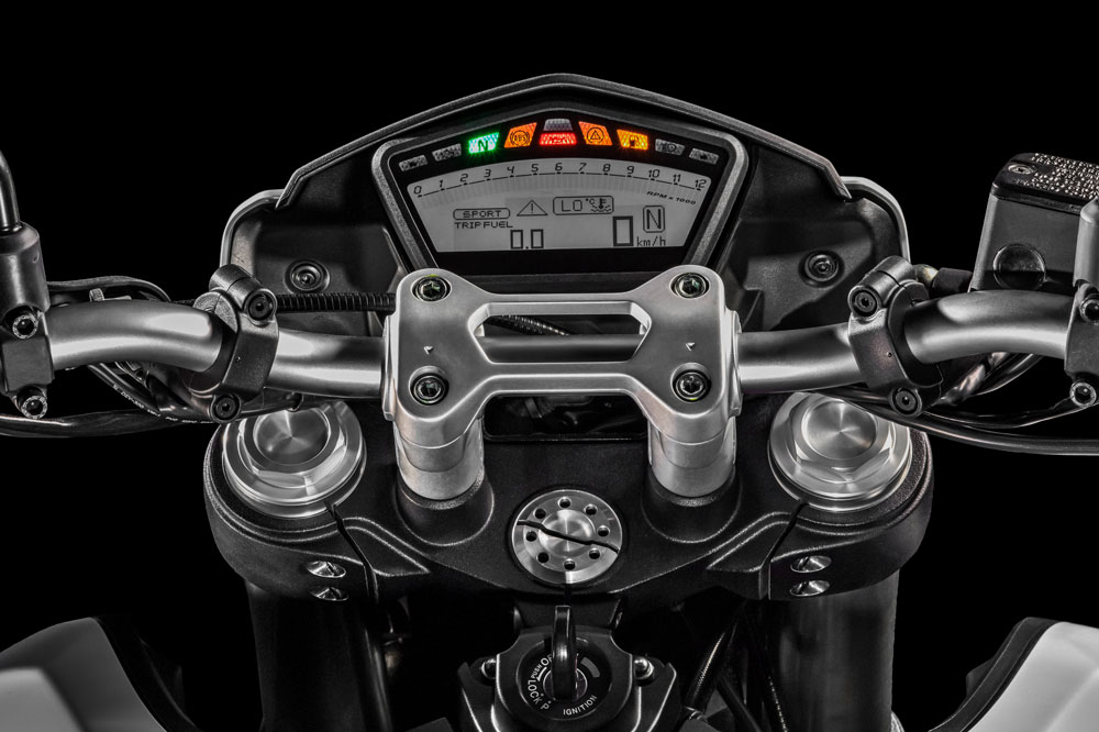 Cuadro de instrumentos de la Ducati Hypermotard