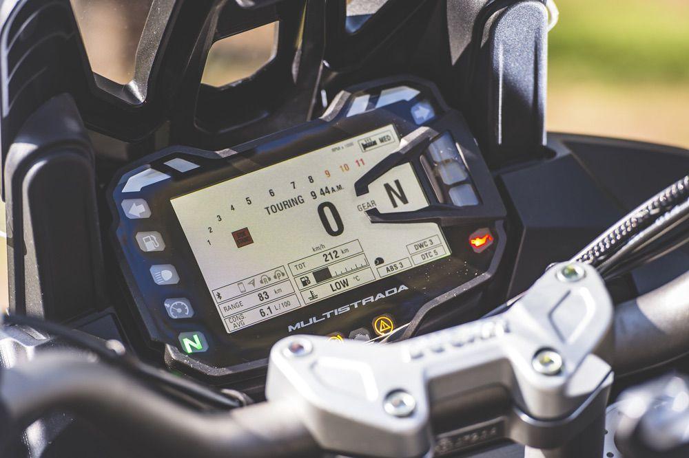 Cuadro de instrumentos de la Ducati Multistrada 1200 Enduro