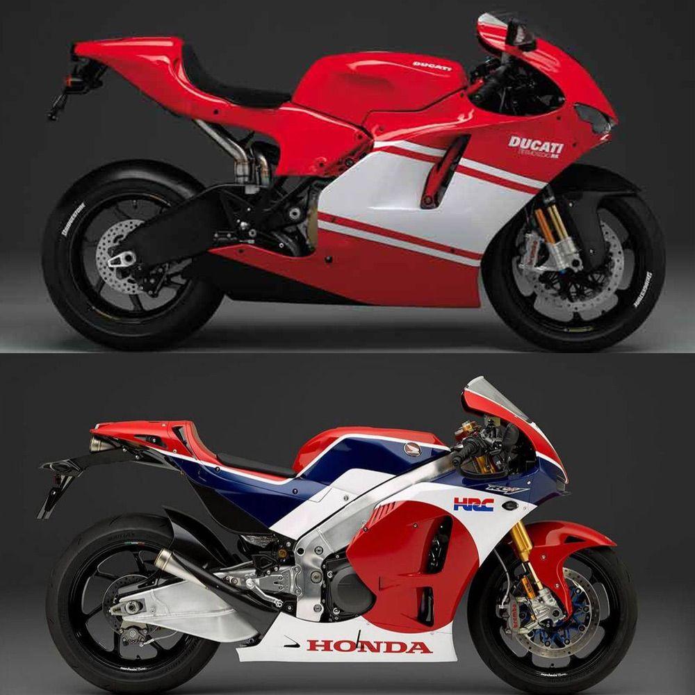 Ducati Desmosedici RR y Honda RC213VS