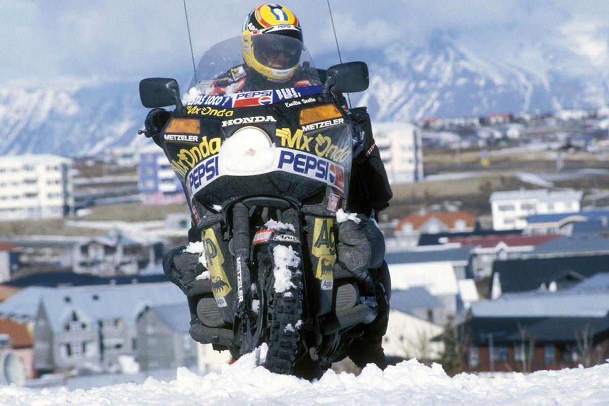 Emilio Scotto, viaje en moto más largo de la historia