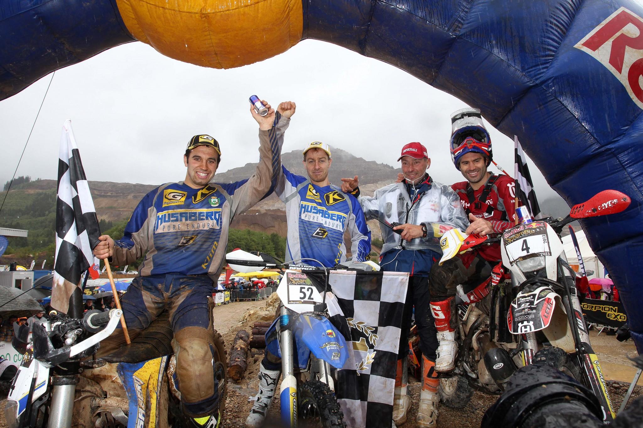 Graham Jarvis, Andreas Lettenbichler y Alfredo Gómez, podio del Erzberg 2013
