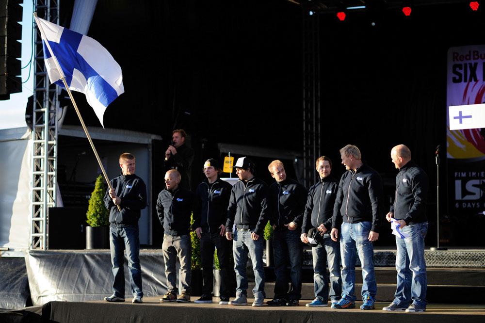 Equipo Trofeo de Finlandia en los ISDE 2012.