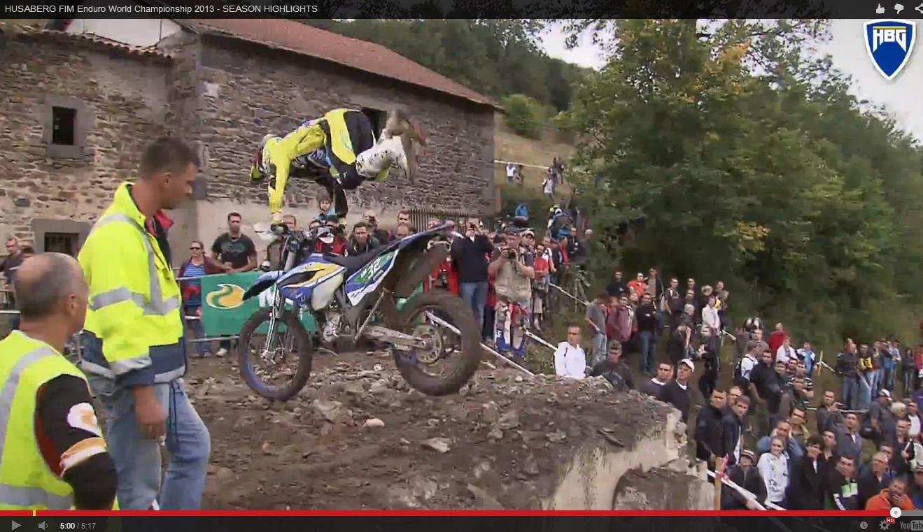 Husaberg crash