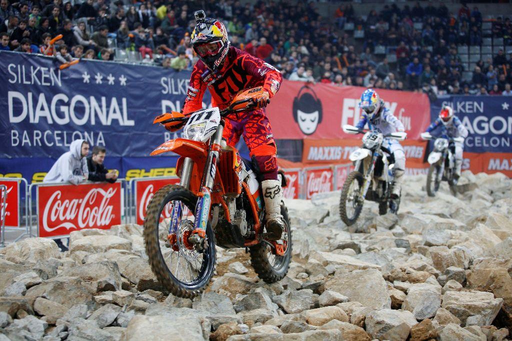 Taddy Blazusiak (KTM) gana el SuperEnduro de Barcelona 2014